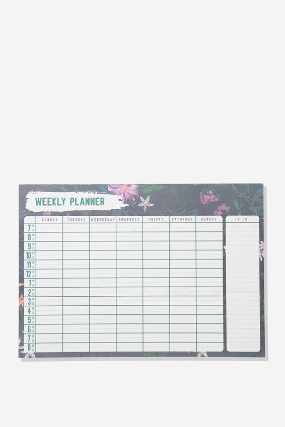 Large Plan Ahead Planner, EMERALD WEEKLY PLANNER