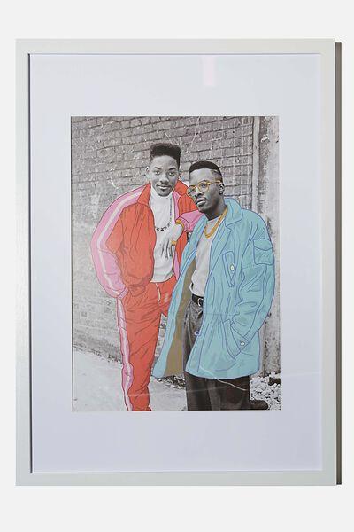 A3 Framed Print, LCN ICO JANET MACOSKA OVERDRAWN MEN