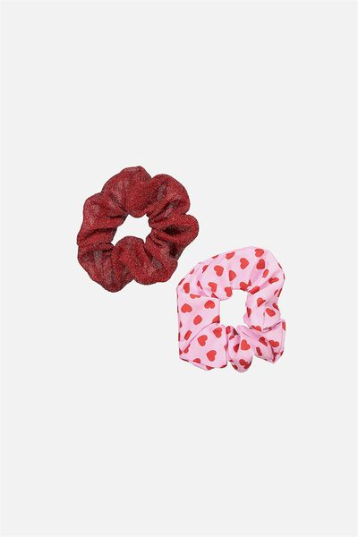 2Pk Scrunchies, HEART