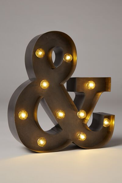 Small Letter Marquee Light, SILVER &