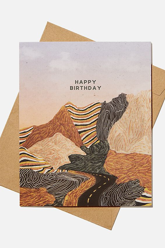 Nice Birthday Card, MOUNTAIN LANDSCAPE