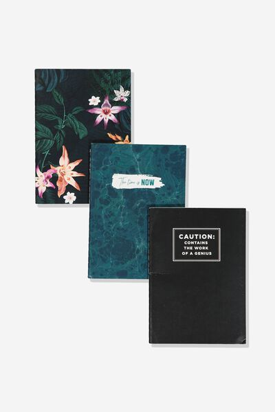 3Pk A6 Notebooks, JUNGLE FLORAL