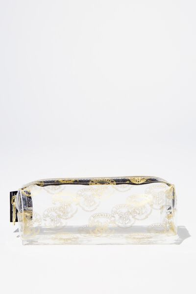 Clear Bailey Pencil Case, LCN WB HPO HOGWARTS CREST