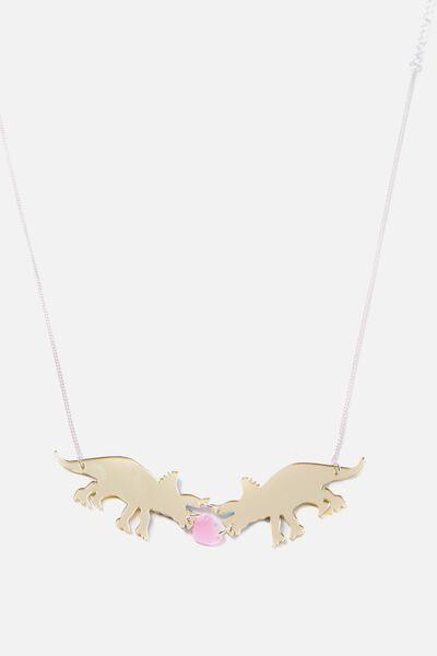 Premium Novelty Necklace, DINOSAUR LOVE
