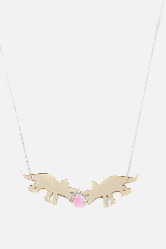 Premium Novelty Necklace, DINOSAUR LOVE