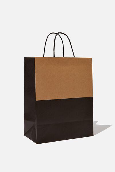 Get Stuffed Gift Bag - Medium, CRAFT BLACK SPLICE