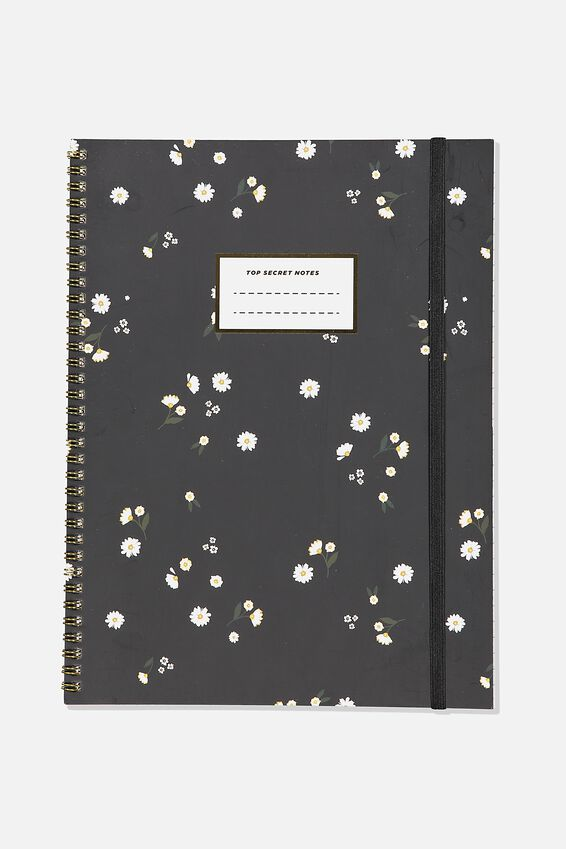 A4 Spinout Notebook Recycled, DITSY FLORAL