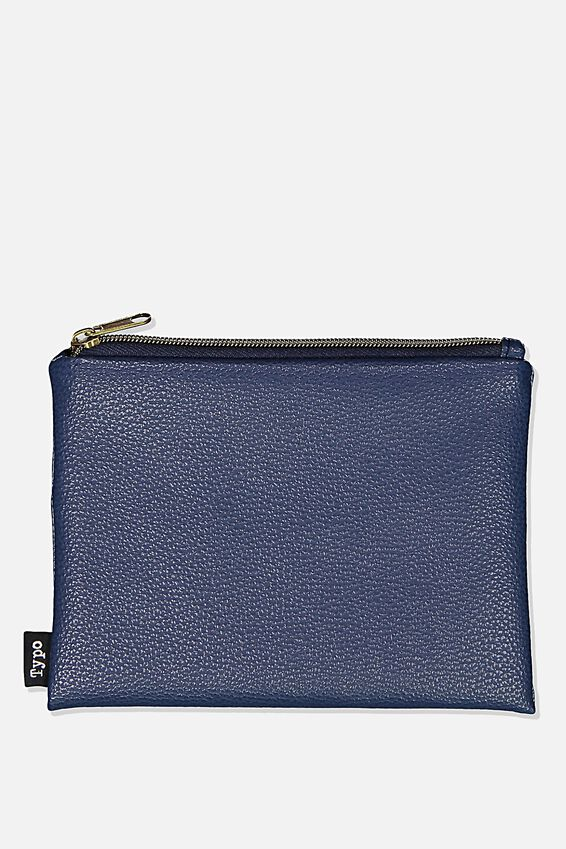 Pu Campus Pencil Case, NAVY