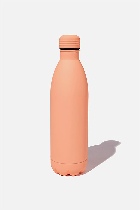 1L Metal Drink Bottle, PEACH