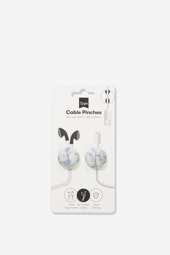 Cable Pinch 2 Pack, MARBLE