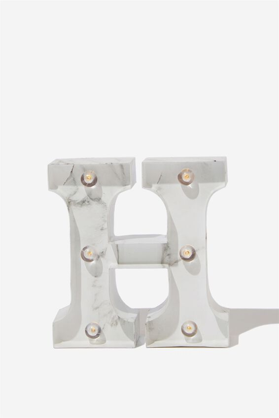 Mini Marquee Letter Lights 3.9inch, MARBLE H