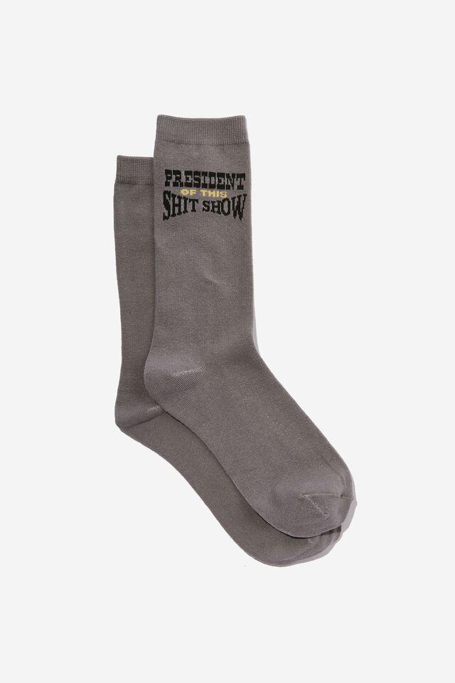 Socks, PRESIDENT OF THE SHIT SHOW!