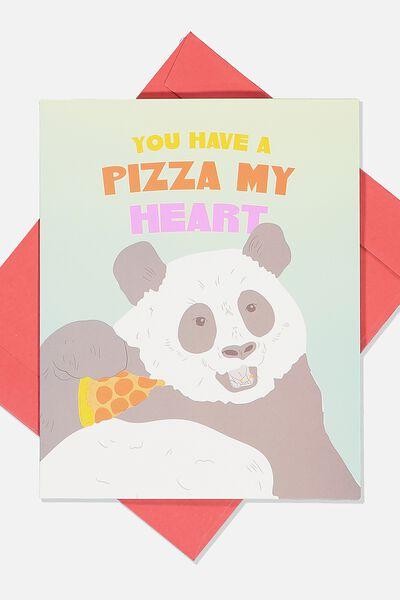 Love Card, PIZZA MY HEART PANDA