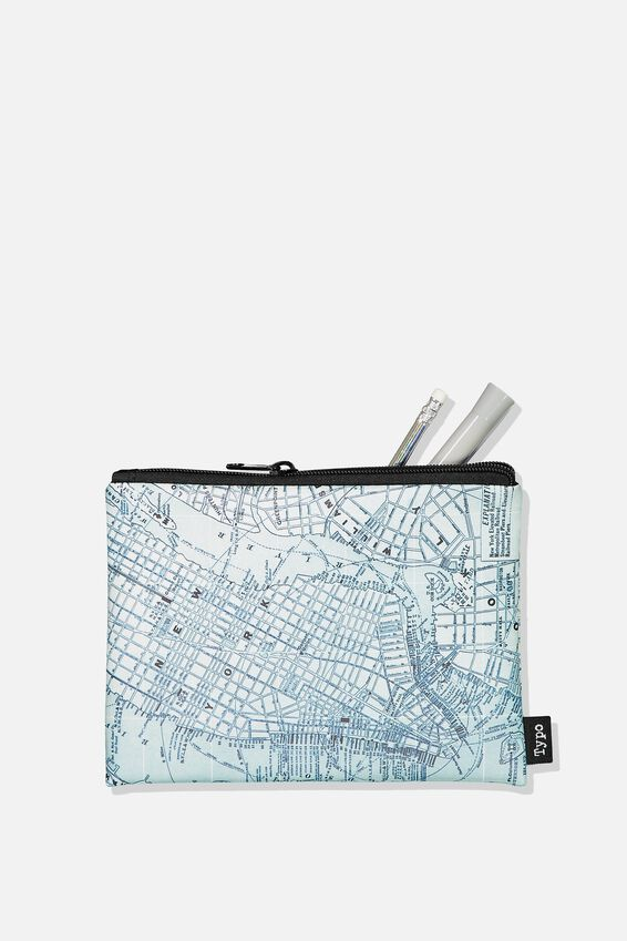 Squad Pencil Case, GREEN MAP