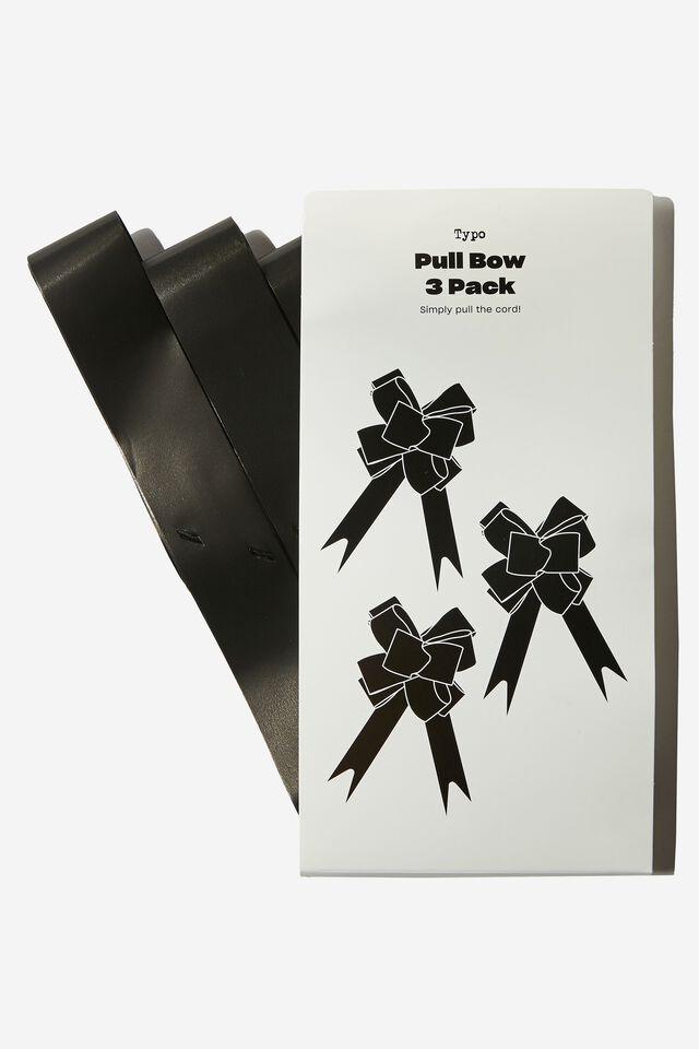 Pull Bow 3 Pack, MATTE BLACK