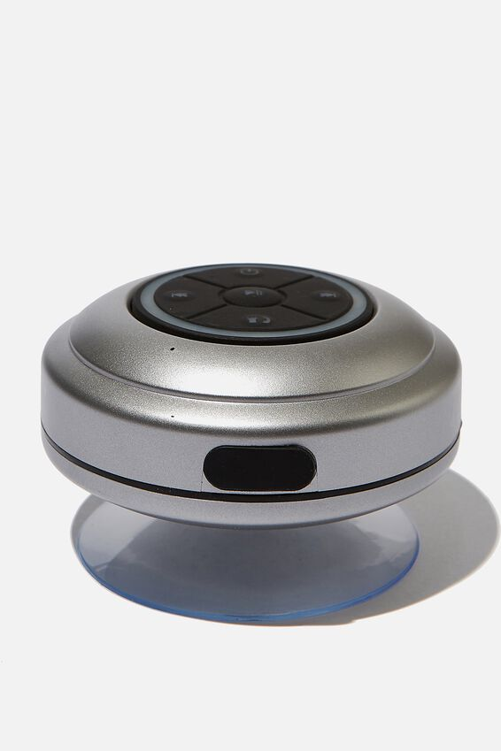 Wireless Led Shower Speaker, METALLIC CHARCOAL