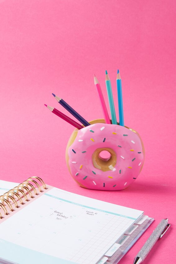 Pen Holder, PINK DONUT