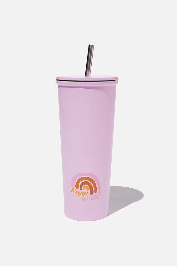 Metal Smoothie Cup, HAPPY HOUR