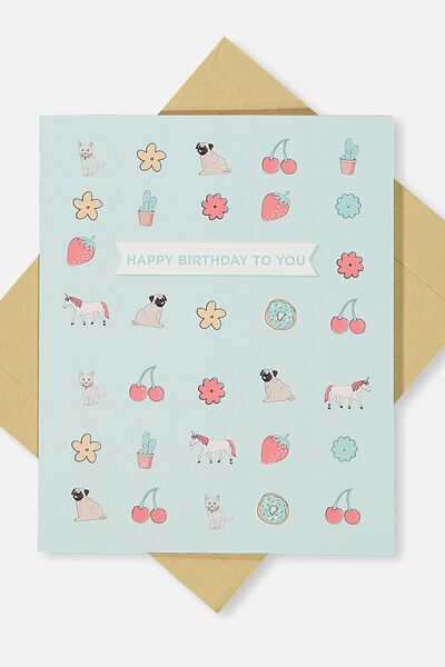 Nice Birthday Card, BIRTHDAY ICONS