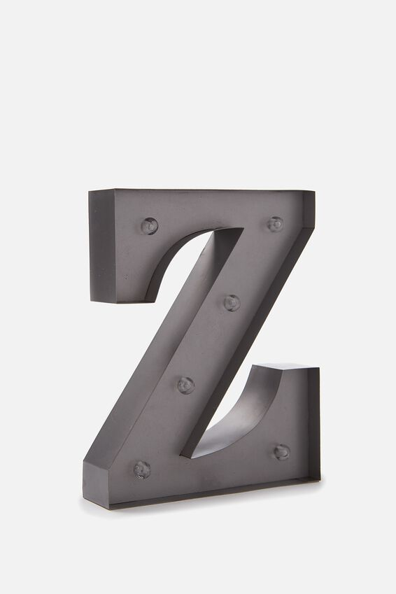 Midi Marquee Letter Lights 6.3inch, SILVER Z