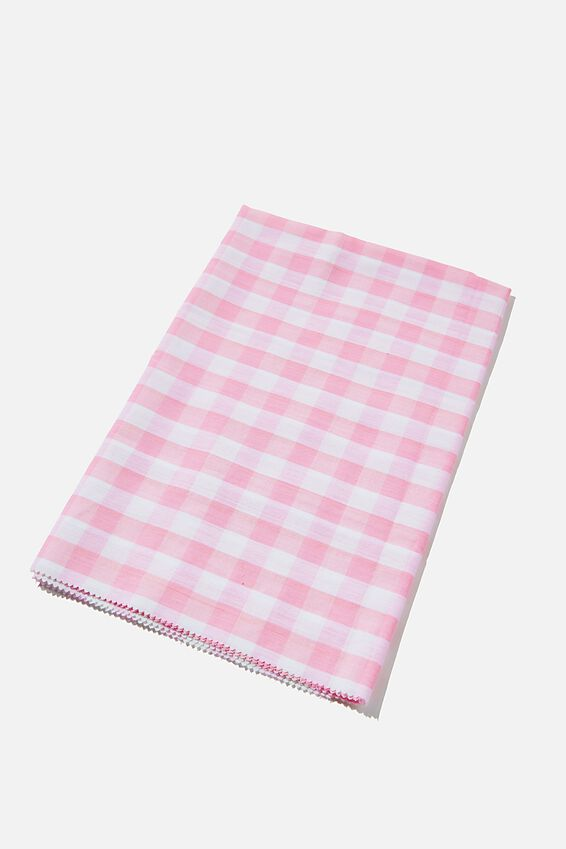 Fabric Wrapping Pack Large 1Pk, PINK GINGHAM