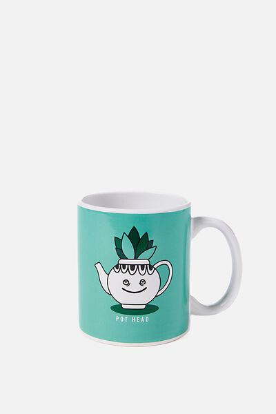 Anytime Mug, POT HEAD