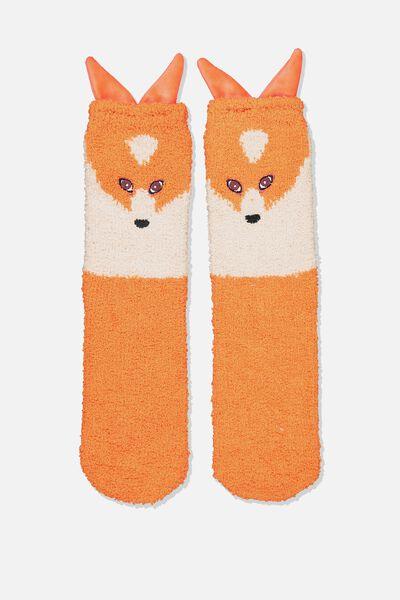 Long Slipper Socks, FOX
