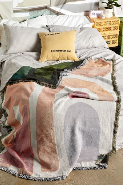 Woven Throw, NEUTRAL SHAPES