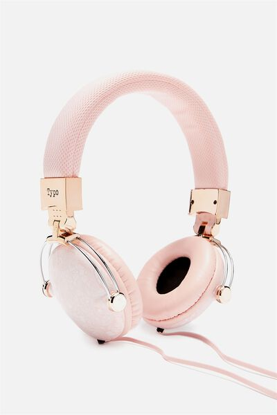 Tune Out Headphones, BLUSH LACE