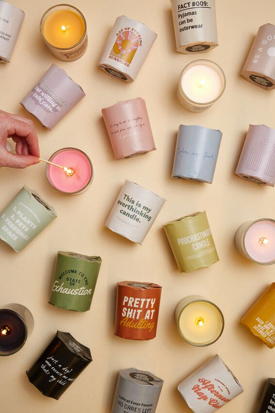 Talk To Me Candle Small, DATE WITH MY PLANTS