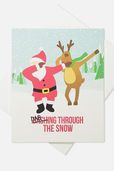 2018 Christmas Card, DABBING THROUGH THE SNOW