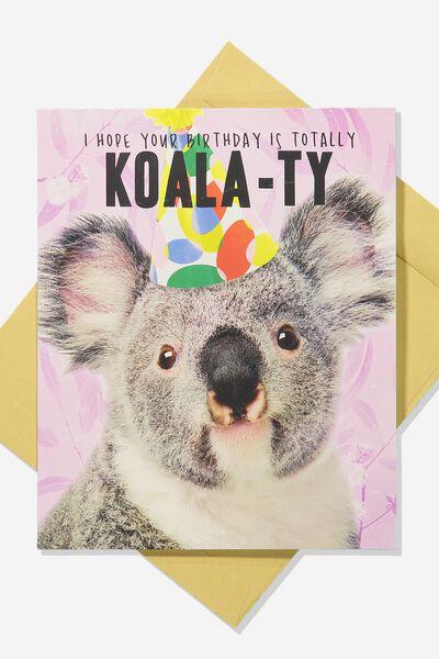 Funny Birthday Card KOALA TY