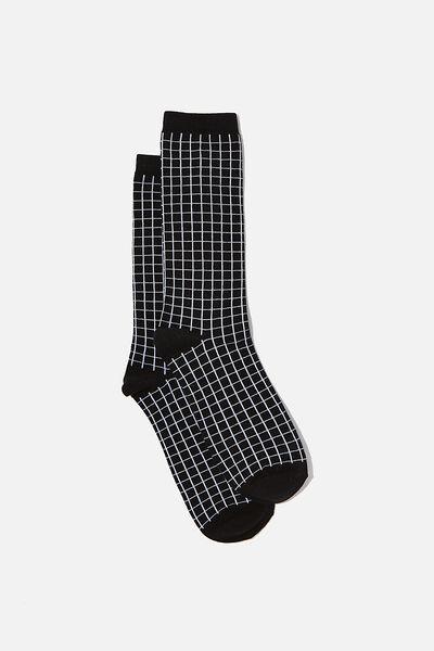 Socks, BLACK GRID