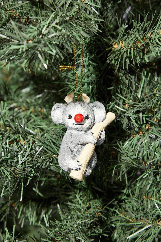 Resin Christmas Ornament, RUDOLPH KOALA