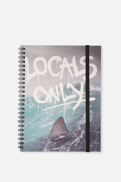 A5 Spinout Notebook - 120 Pages, LOCALS ONLY SHARK