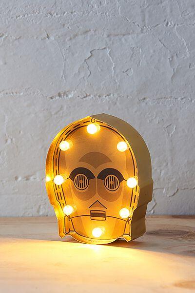 Shaped Mini Marquee Light, LCN C3PO