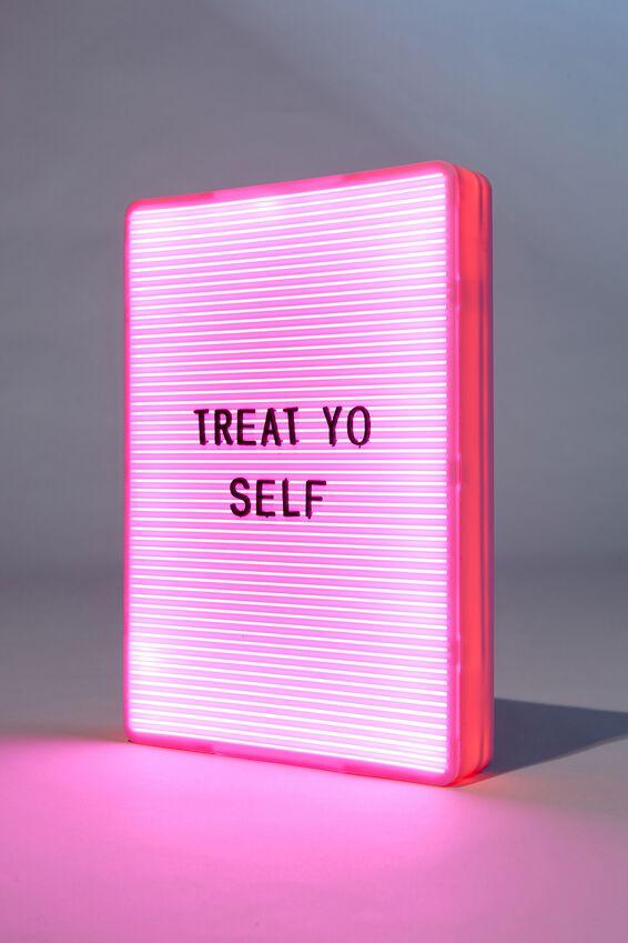 Peg Board Light Box, SOLID PLASTIC PINK