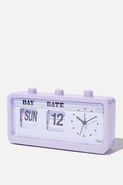 Retro Flip Clock, PALE LILAC