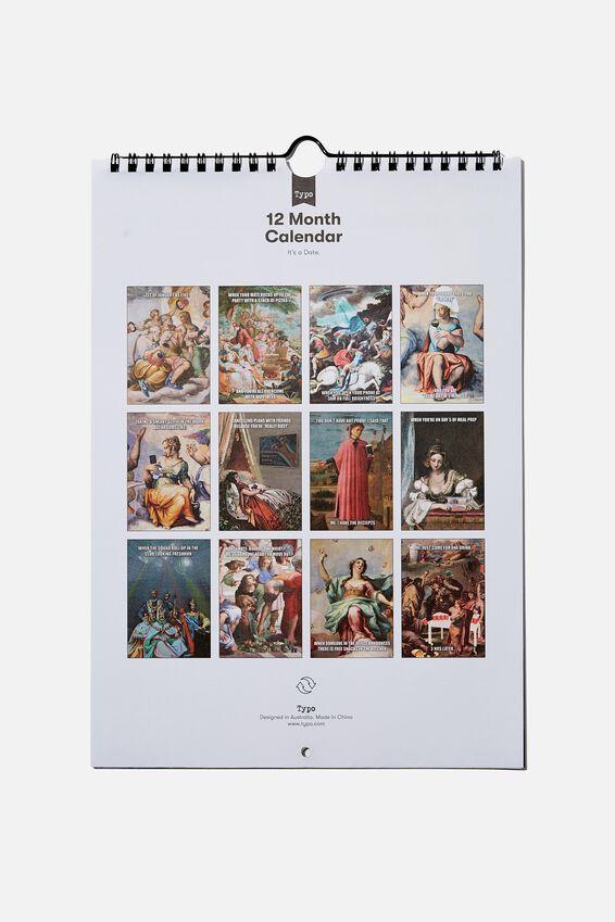 2021 Get A Date Calendar, CLASSIC ART!