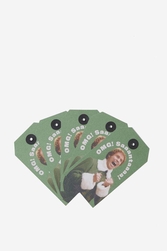Elf Gift Tag 5 Pack, LCN WB ELF