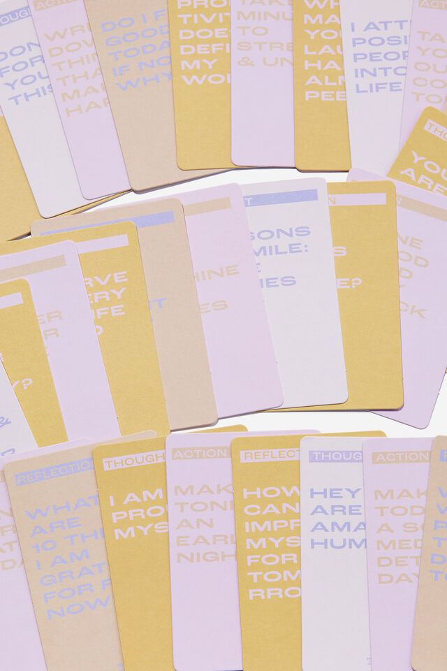 Affirmation Cards, DAILY AFFIRMATION PINK