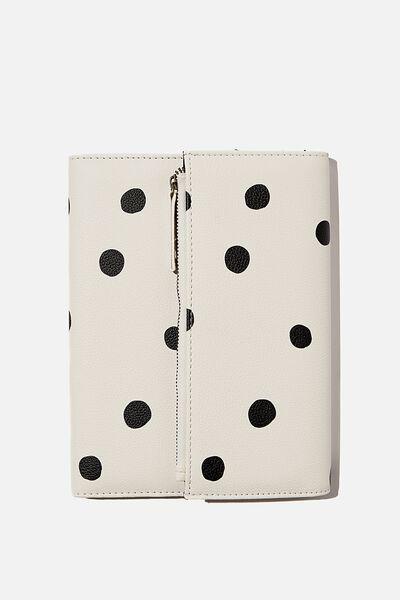 2021 Zip Pocket Diary, ECRU OVERSIZED POLKA