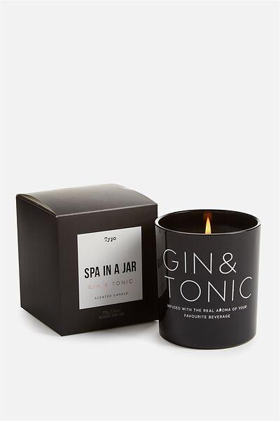 Glass Jar Candle, GIN & TONIC!