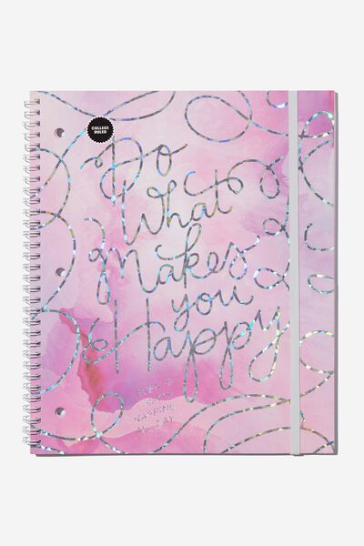 College Ruled Spinout Notebook V, DO WHAT MAKES YOU HAPPY