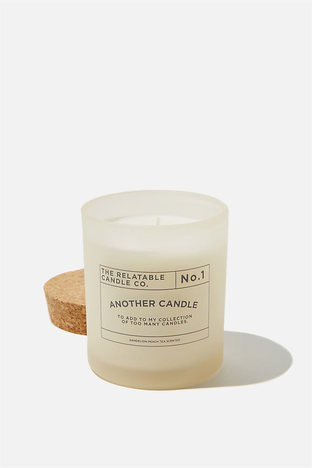 Relatable Quote Candle, ECRU TOO MANY CANDLES