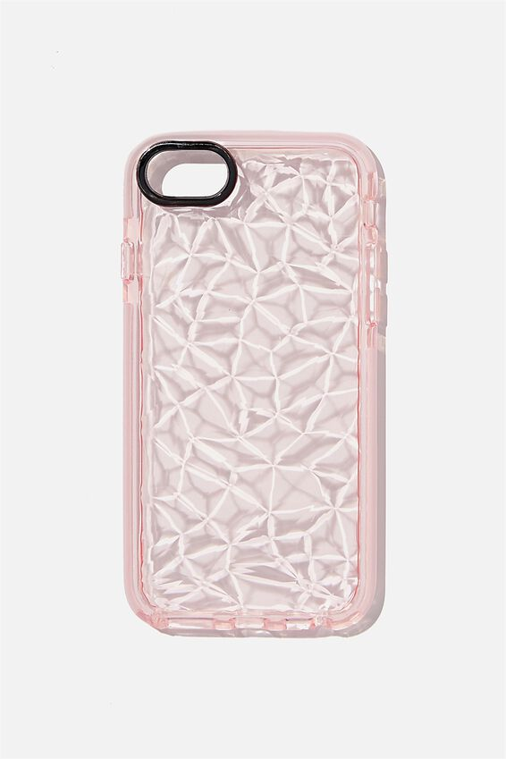 Protective Phone Case 6, 7, 8, SE, CLEAR DIAMOND TEXTURE