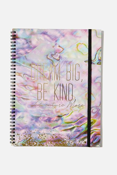 A4 Spinout Notebook Recycled, DREAM BIG