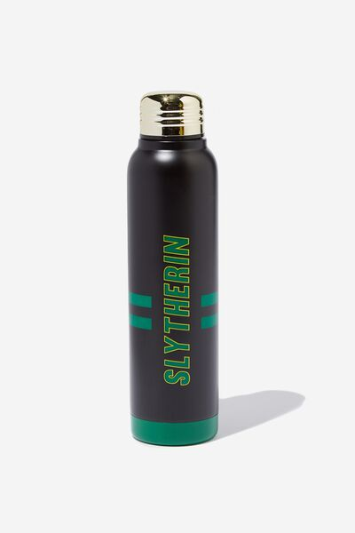 Premium Small Metal Drink Bottle, LCN WB SLYTHERIN