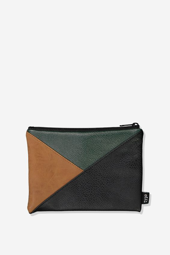 Riley Pencil Case, TAN GREEN SPLICE