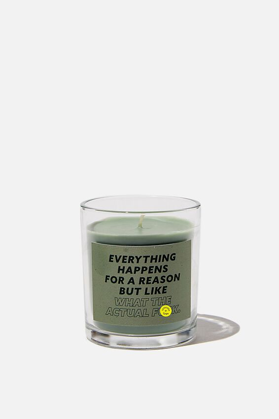 Talk To Me Candle Small, WHAT THE ACTUAL F#$K!!